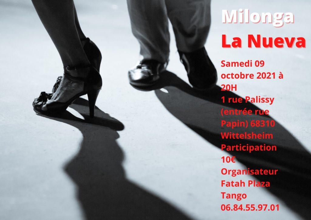 Milonga en Alsace le samedi 09 octobre